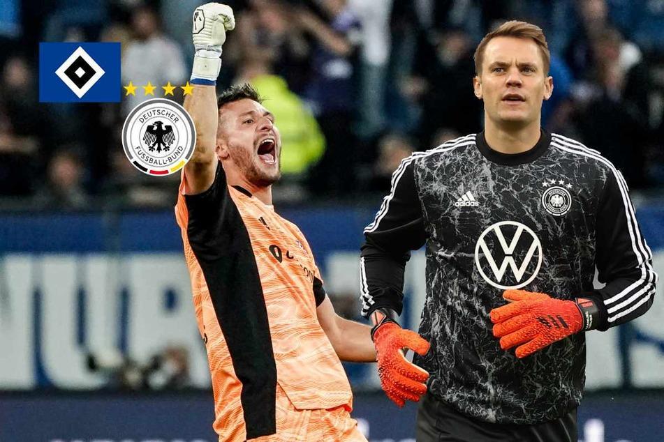 Heuer statt Neuer! HSV-Keeper springt bei DFB-Training ein