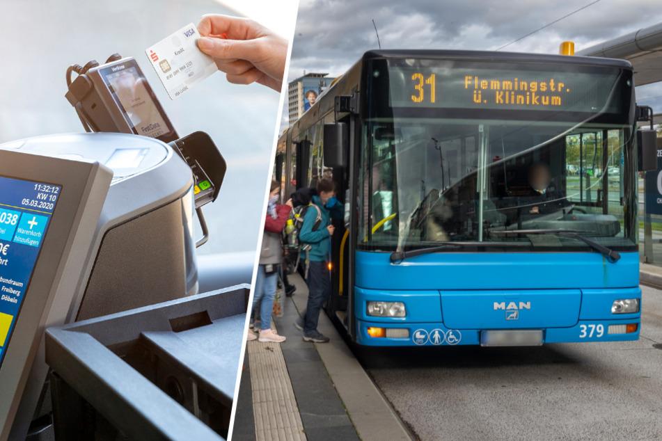 Chemnitz: Ab nächstem Monat! CVAG schafft Bargeld in Bussen ab