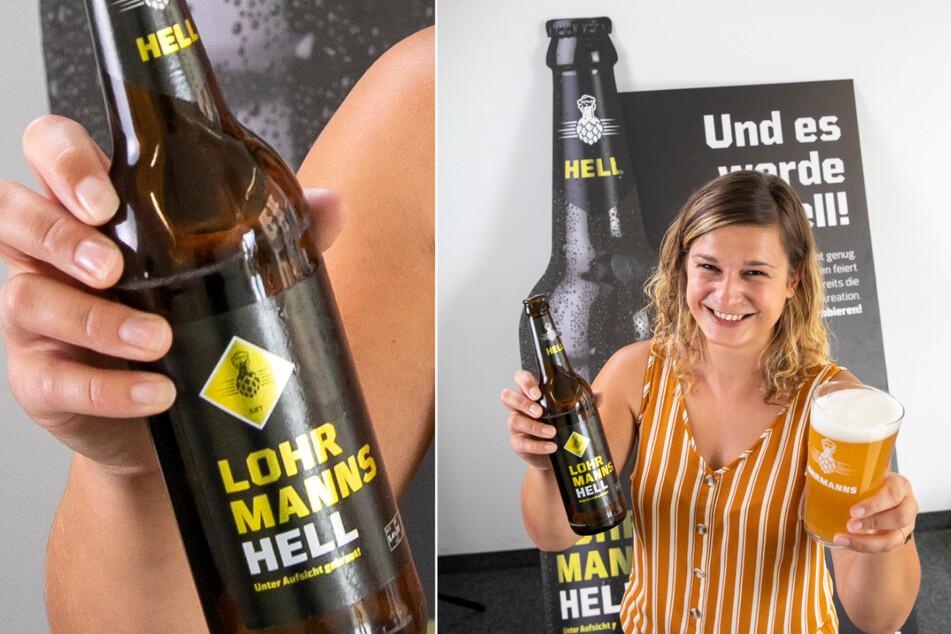 """""""Ein akademisch vollmundiger Genuss."""" Sophia Witte (29) präsentiert die zweite Sorte von Lohrmanns-Bräu, das künftig im Kraftwerk Mitte (Kreis) gebraut werden soll."""