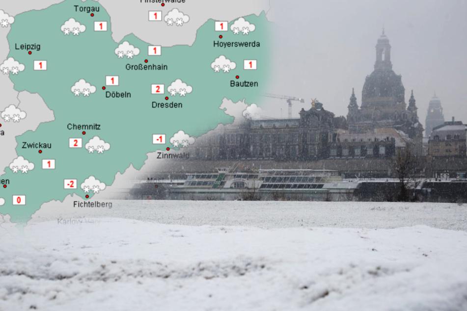 Überall Schnee in Sachsen: Bleibt das Winterwetter die nächsten Tage?