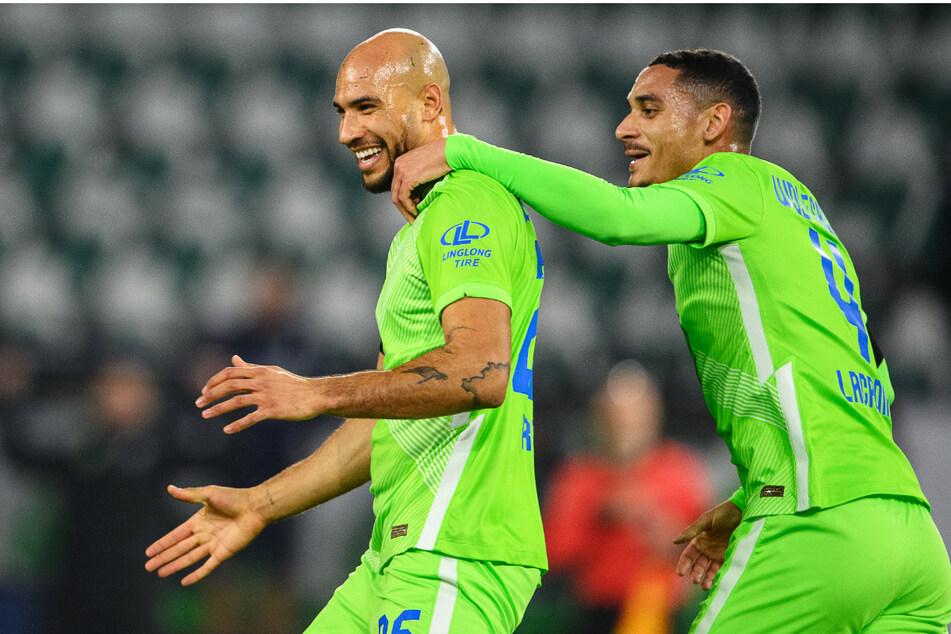 Das Wolfsburger Innenverteidiger-Duo Maxence Lacroix (20, r.) und John Anthony Brooks (28) harmoniert in dieser Saison prächtig.