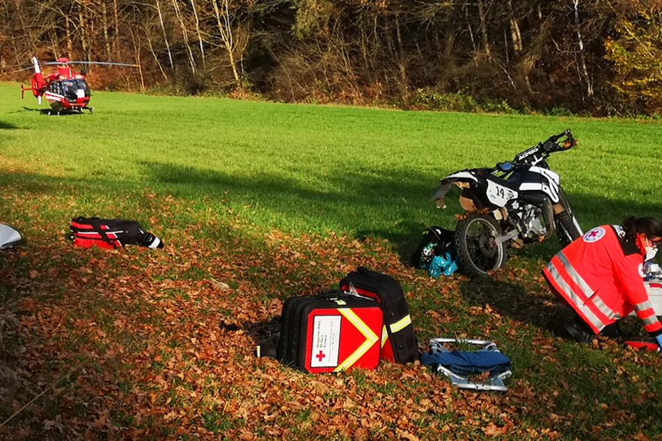 Unfall mit Crossmaschine: Teenager muss reanimiert werden