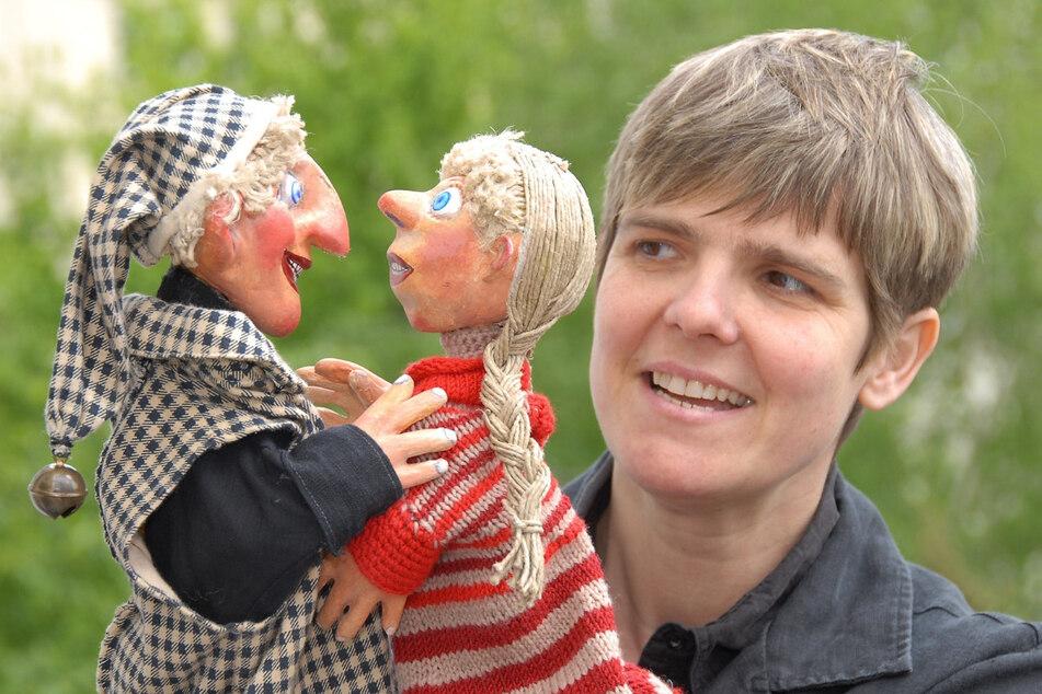 Puppenspielerin Cornelia Fritzsche (56) aus Dresden.