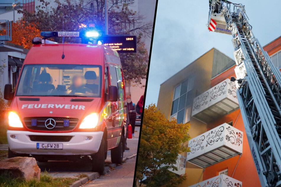 Chemnitz: Wohnungsbrand in Chemnitz: Buslinie umgeleitet