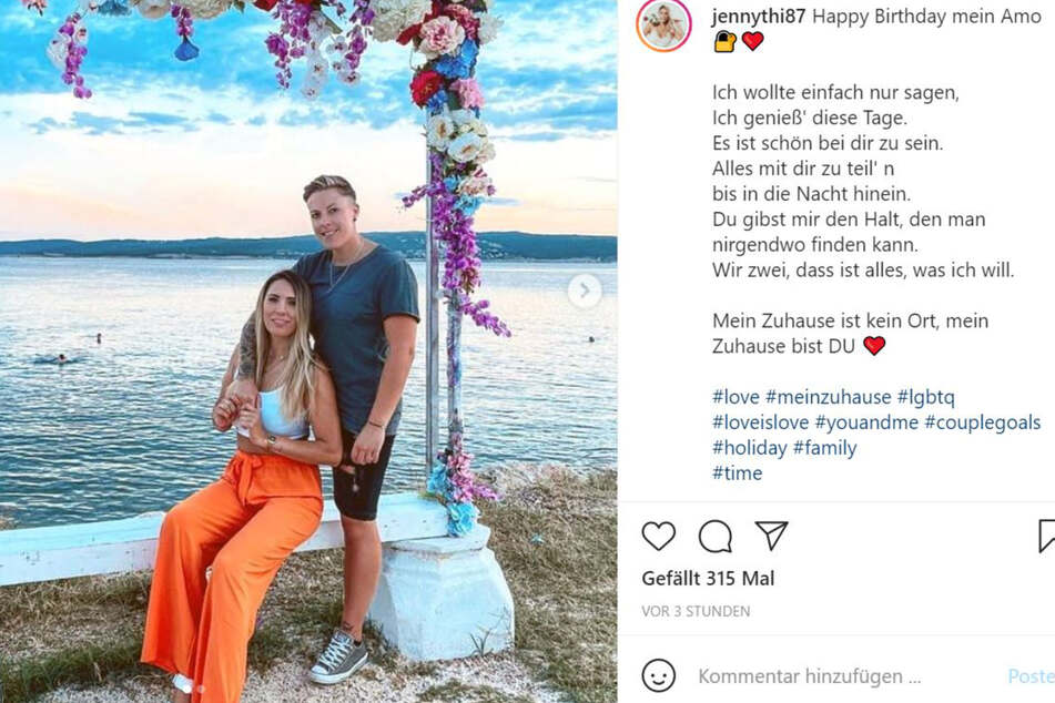 Ex-Bachelor-Babe Jenny Thiede (l, 24) und ihre neue Liebe Lu.