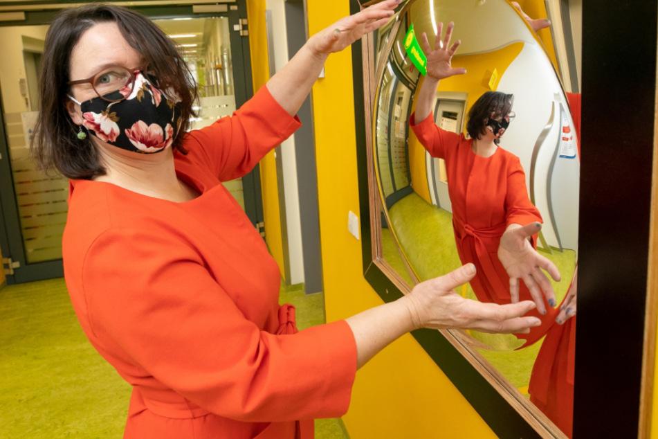 Kunsttherapeutin Britta Fahr (52) entwickelte die Pläne für den neuen Wartebereich.