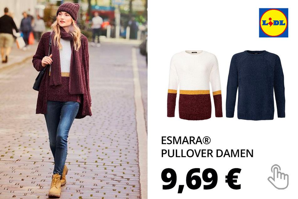 ESMARA® Pullover Damen, mit Rundhalsausschnitt