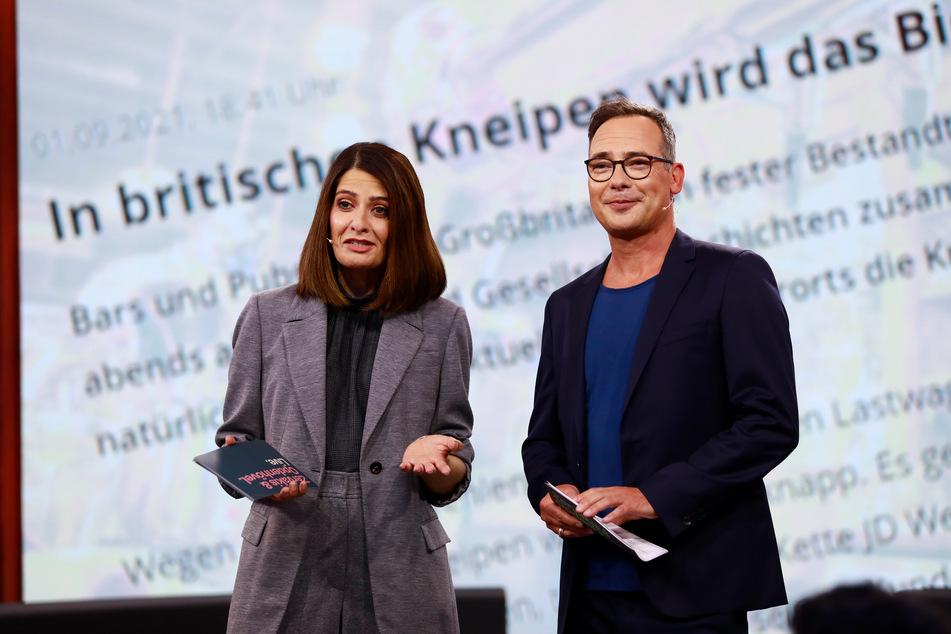 """Linda Zervakis (46) und Matthias Opdenhövel (51) waren erstmals beim ProSieben-Journal """"Zervakis & Opdenhövel"""" im Einsatz zu sehen."""