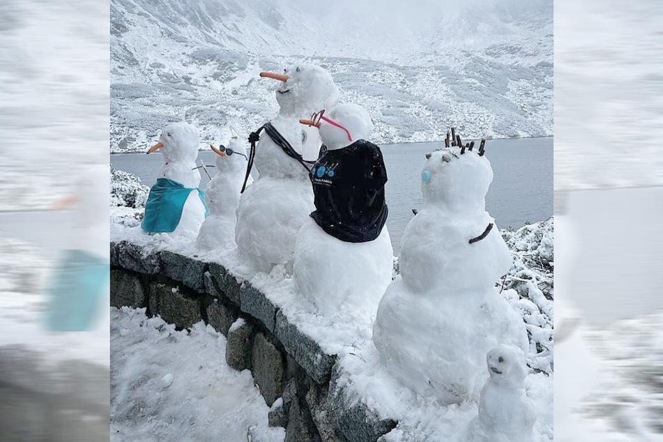 In der Hohen Tatra in Polen schneite es zum Herbstanfang am Mittwoch.