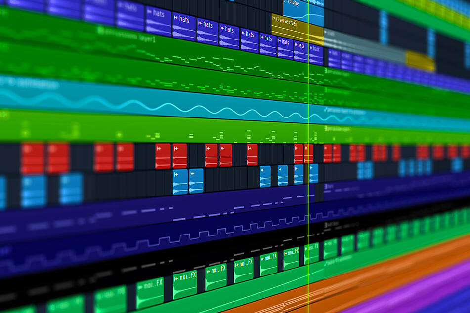 A Digital Audio Workstation, called a DAW, where producers cut and edit their tracks. (stock image)