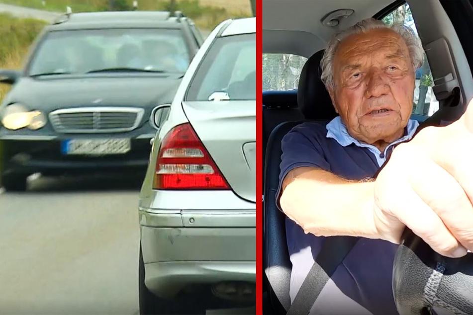 Heinz (96) gefährdet Straßenverkehr und fliegt durch Führerschein-Check