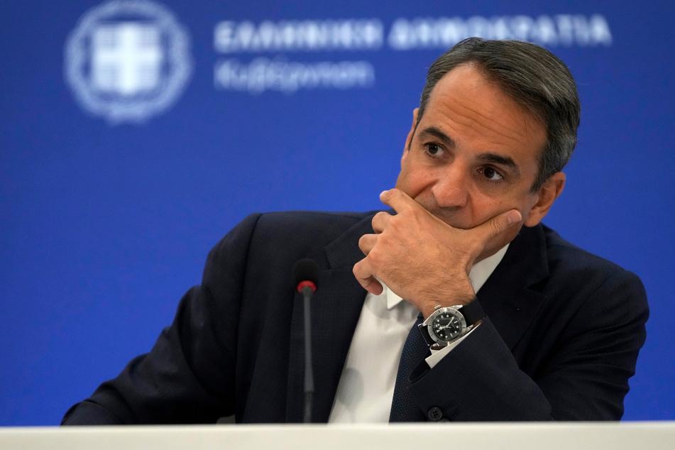 Der griechische Ministerpräsident Kyriakos Mitsotakis (53).
