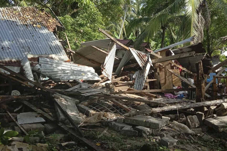 The earthquake in the Philippines caused severe damage.