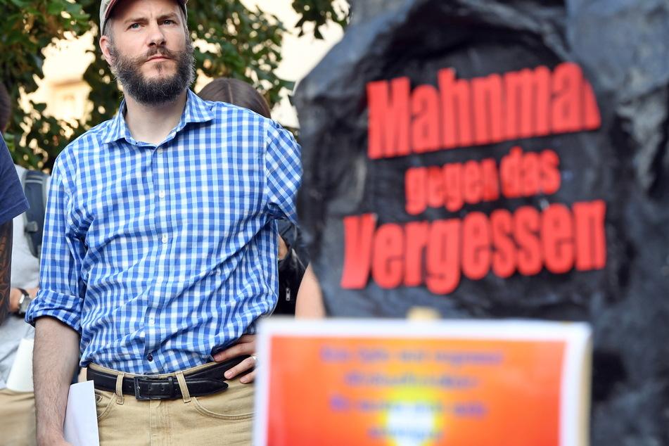 """Martin Kohlmann (44, Pro Chemnitz/Freie Sachsen) klagte gegen die heutige Demonstration von """"Chemnitz Nazifrei""""."""