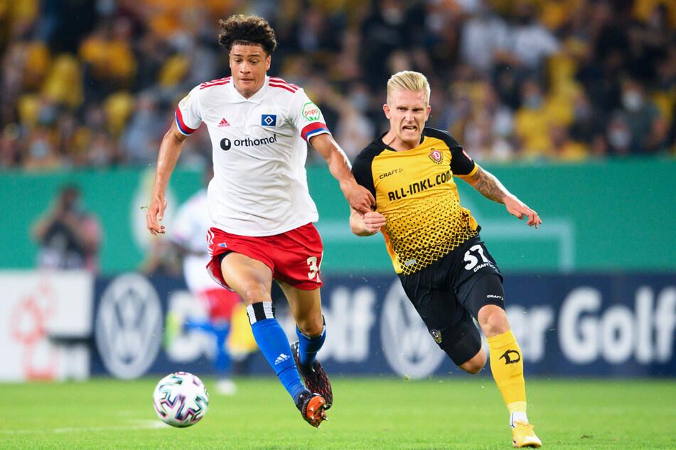 Luka Stor (23, rechts) traf in der 1. DFB-Pokalrunde auf den HSV. (Archivbild)