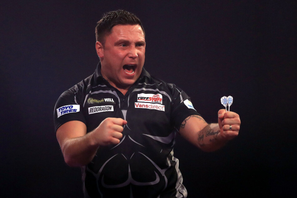 Gerwyn Price (35) aus Wales jubelt: Weltmeister!