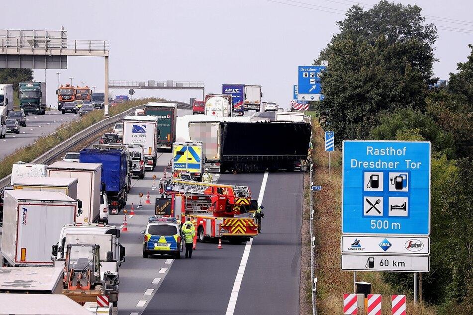 Kurz vor dem Dresdner Tor krachte es zwischen zwei Lkw.