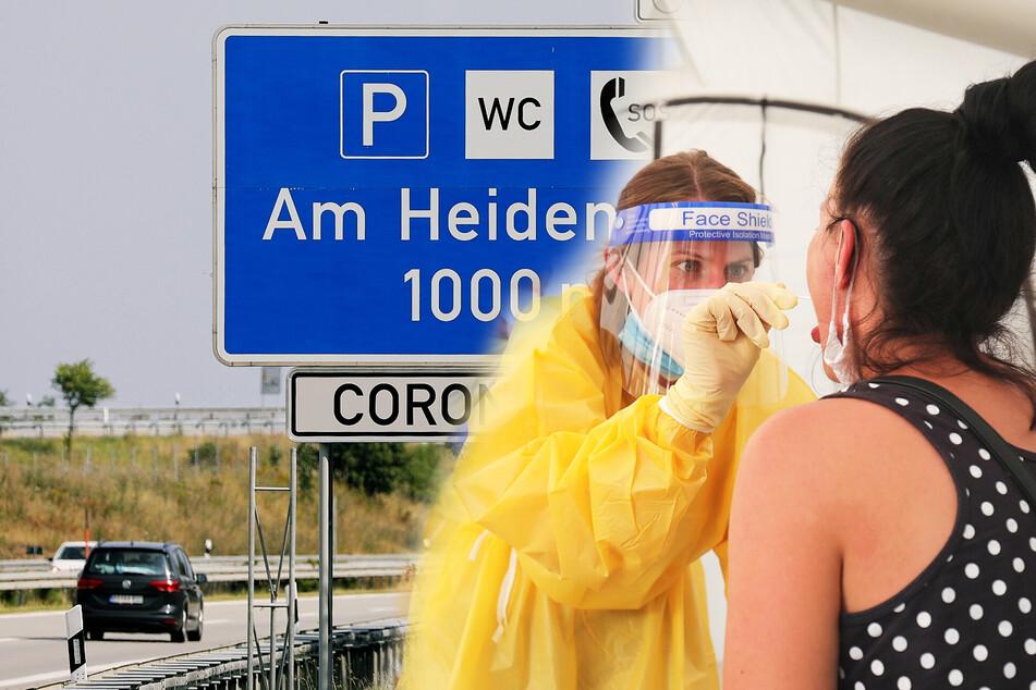 A4 und A17: Reiserückkehrer können sich ab jetzt an der Autobahn auf Corona testen lassen!