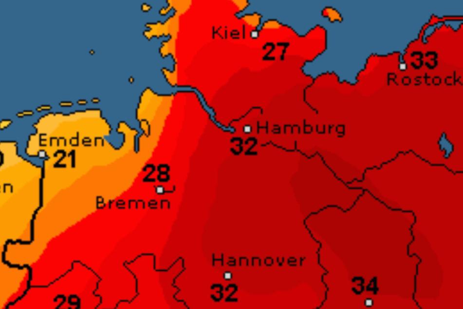Mehr als 30 Grad grillen den Norden in dieser Woche.