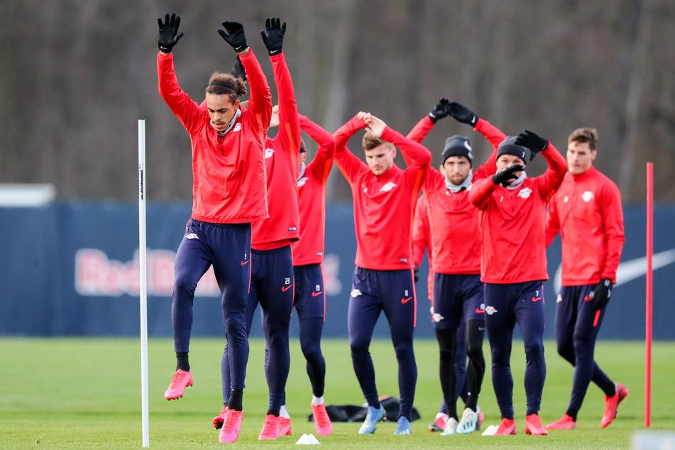 Die Leipziger trainieren fleißig, um bei ersten Ligaspiel gegen Freiburg fit zu sein.