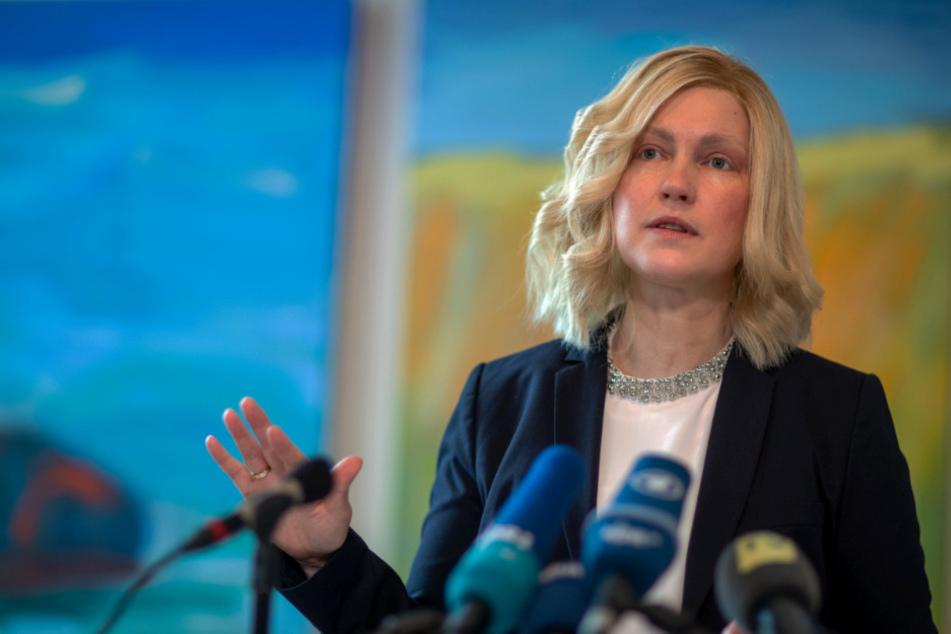 Manuela Schwesig (SPD) informiert über aktuellen Maßnahmen gegen die Ausbreitung des neue Coronavirus.