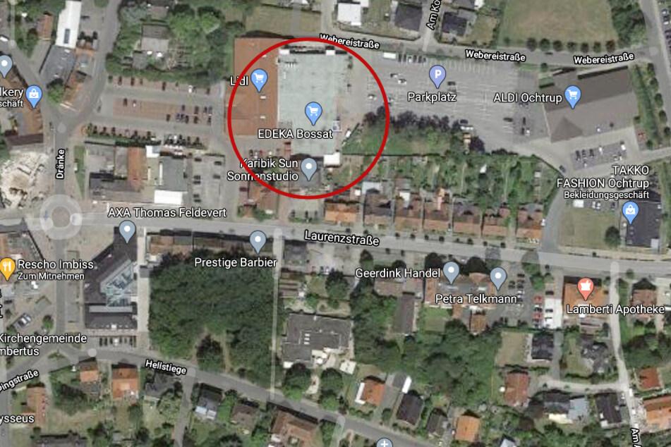 Der Vorfall ereignete sich am Edeka-Markt an der Laurenzstraße in Ochtrup.