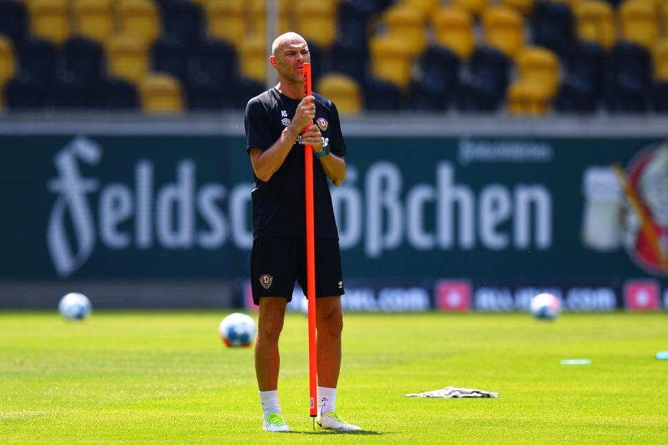 Dynamo-Trainer Alexander Schmidt (52) will auch in der 2. Liga an seinem Spielstil festhalten.