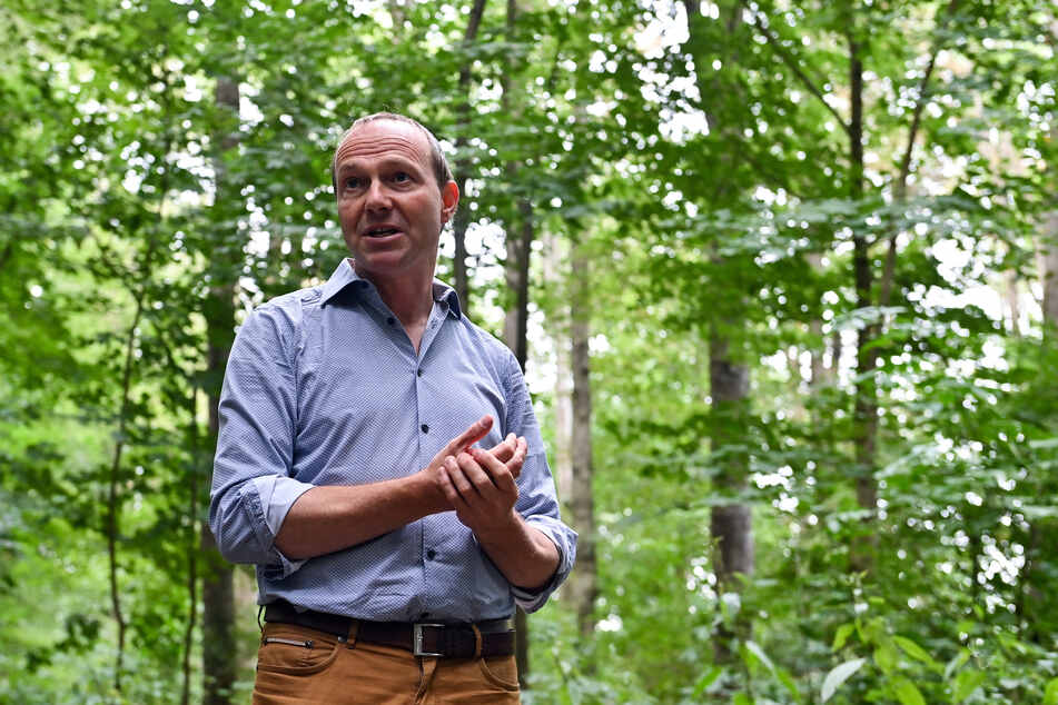 Wolfram Günther (Grüne), Umweltminister von Sachsen, schafft es im Vergleich zu seinen Kollegen nur ins Mittelfeld.