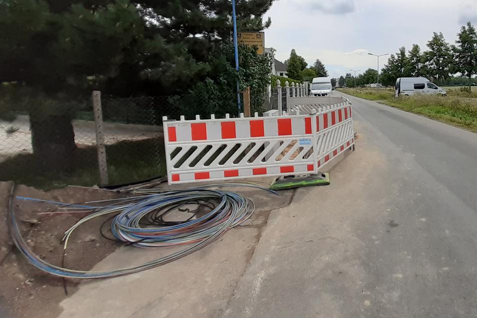 Die Reparaturarbeiten in Liebertwolkwitz sind in vollem Gange.