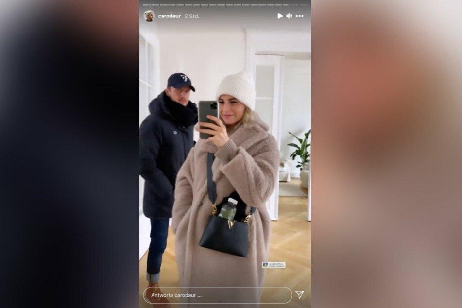 Caro (25) zeigte Tommi (31) bereits in ihrer Instagram-Story.