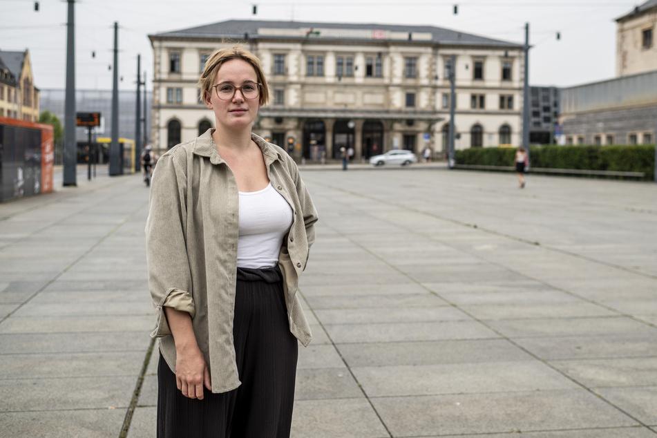 """Carolin Juler (22, Linke) kann sich eine """"Fixerstube"""" zum Beispiel in der Nähe des Hauptbahnhofs vorstellen."""