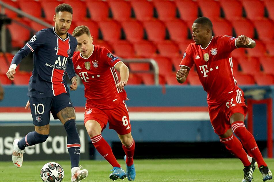 Die PSG-Stars Neymar (l.) und Kylian Mbappé brachten die Hintermannschaft des FC Bayern München ein ums andere Mal ins Schwimmen.