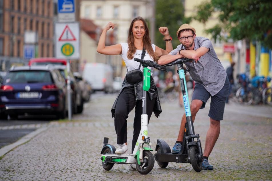 Dresden: Rote Zone: Verwirrung um Parkverbot für E-Scooter