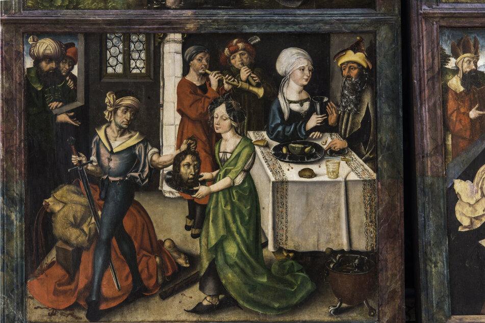 Eins der Tafelbilder zeigt einen Henker mit dem Haupt von Johannes dem Täufer. Dieses ähnelt nach Ansicht von Experten sehr stark anderen Dürer-Werken.