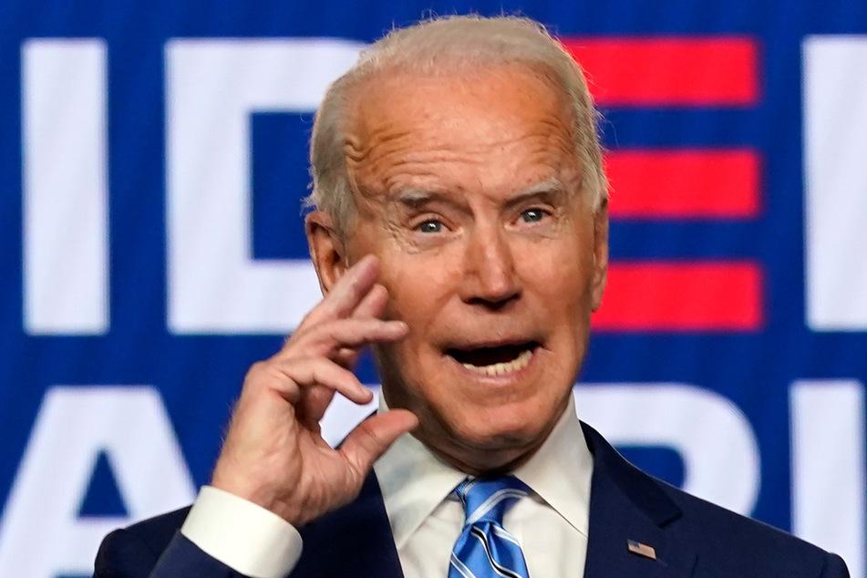 Joe Biden (77), Präsidentschaftskandidat der Demokraten, wandte sich am Mittwoch in Wilmington in eine Rede an die Amerikaner.