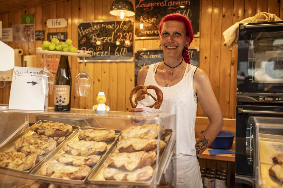 """Nancy Enzian, auch bekannt als """"Brezel-Gabi"""", hat in diesem Jahr deutlich weniger verkauft."""