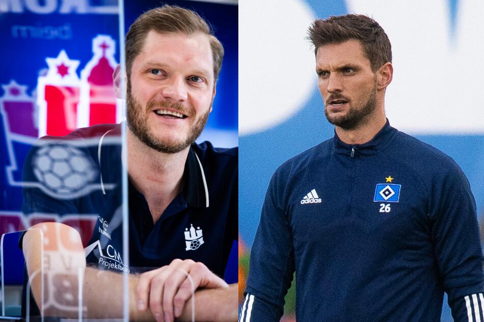 """Für Handball-Nationalkeeper Johannes Bitter (38, l.) und HSV-Torwart Sven Ulreich (32) ist es ein """"Privileg"""", während der Corona-Pandemie spielen zu dürfen."""