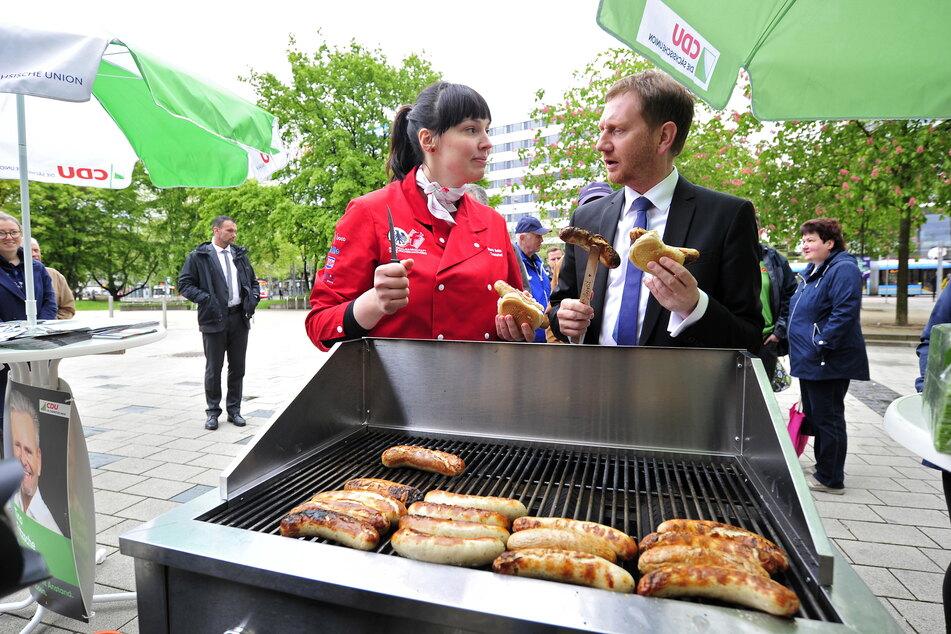 Nora Seitz ging sogar schon mit MP Michael Kretschmer (45, CDU) auf Tuchfühlung.