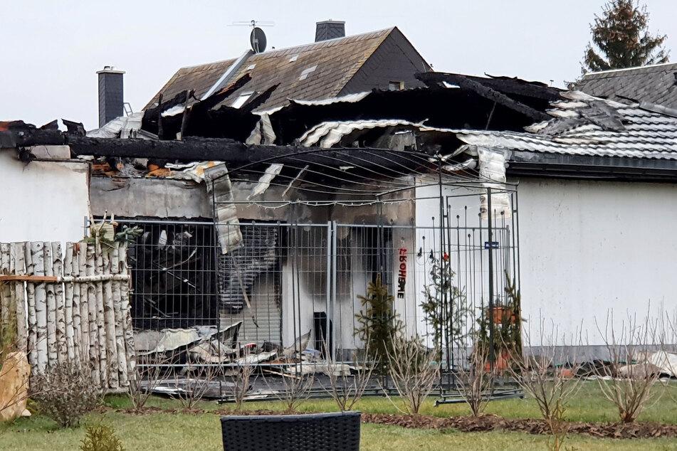 Das Haus in Neuschönberg ist nach dem Brand unbewohnbar.