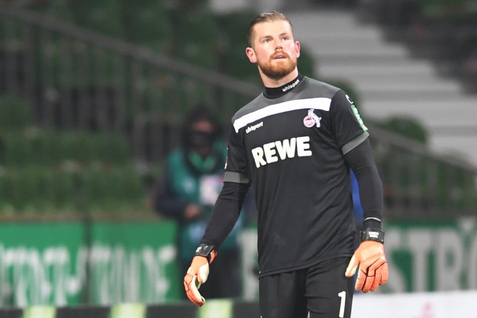 Der Torhüter des 1. FC Köln Timo Horn (27) musste in der Partie gegen Werder Bremen wegen einer Verletzung ausgewechselt werden.
