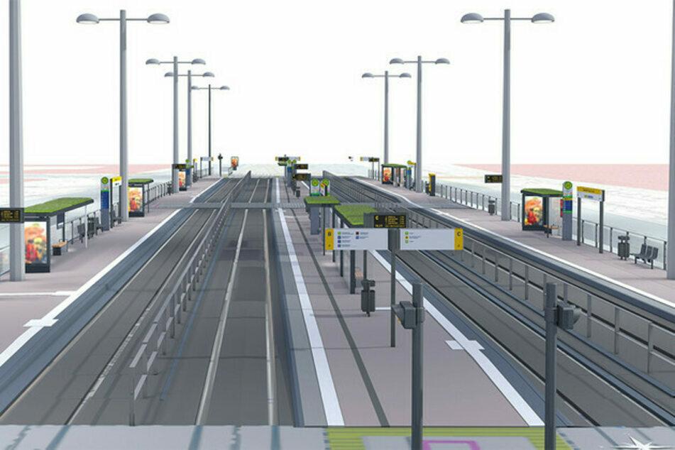 So soll der Verkehrsknotenpunkt Goerdelerring ab Samstag aussehen.