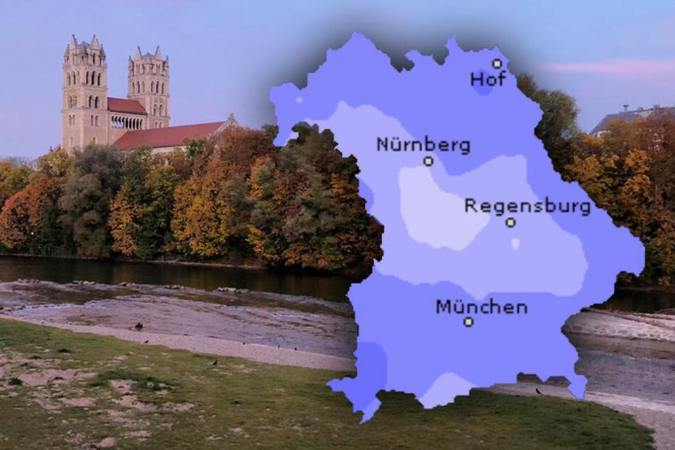 So wird das Wetter in Bayern bis zum nächsten Wochenende