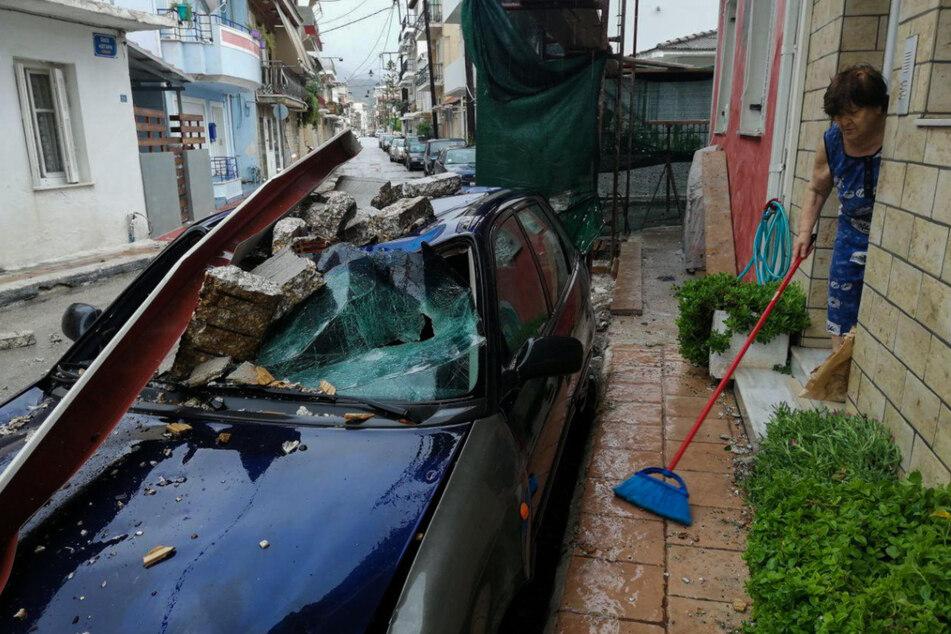 """Verwüstung durch """"Ianos"""": Heftige Stürme fordern drei Tote"""