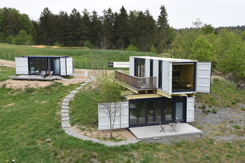 Die Bergheim-Container-Lofts befinden sich inmitten der Bike- und Skiwelt Schöneck. Die Ausstattung ist sehr modern.
