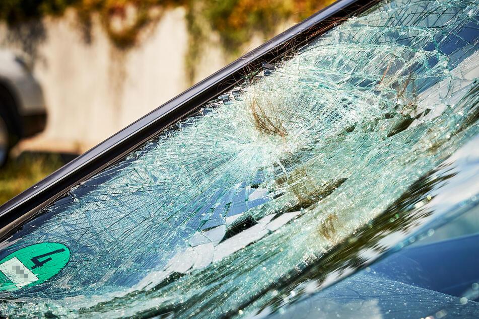 Bei dem Crash krachte das Mädchen auf die Windschutzscheibe des Mercedes, verlor dabei eine Haarsträhne.