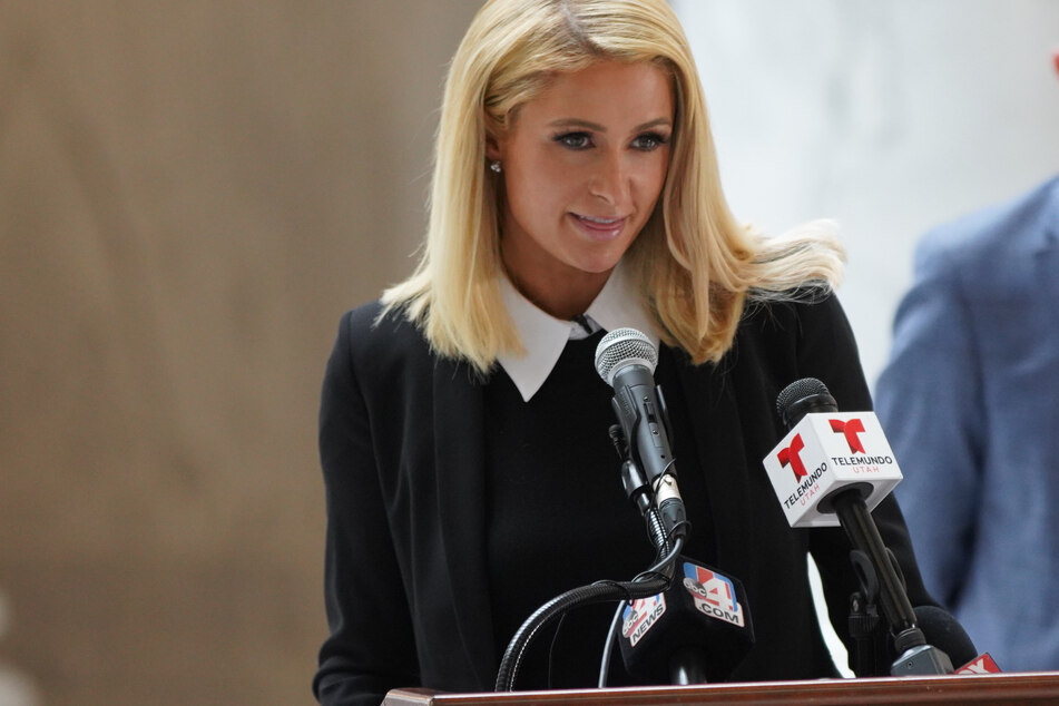 Closure for Paris Hilton: star returns to Utah to witness her bill made law