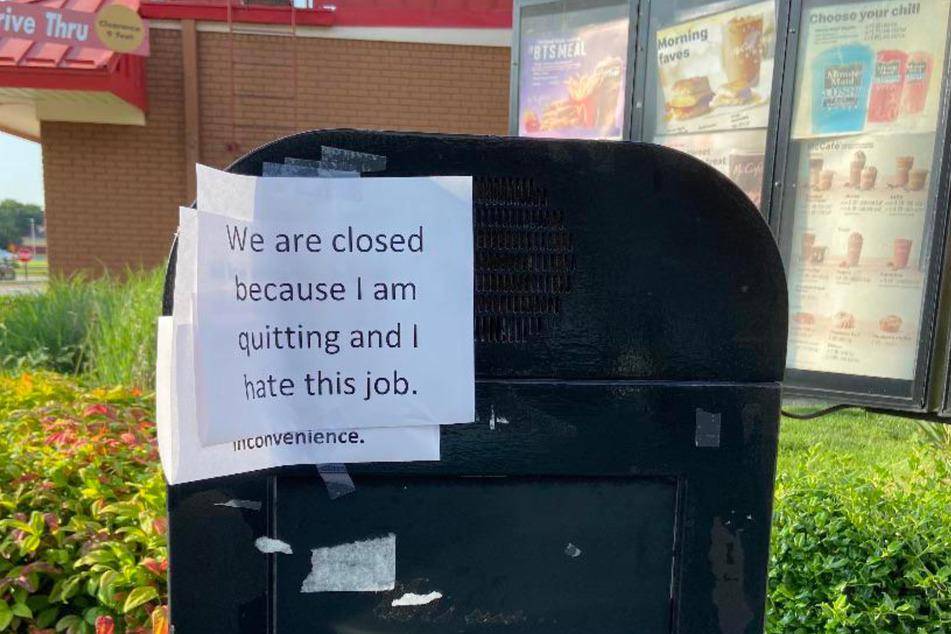 Mehr als diesen Zettel bekam ein McDonald's-Kunde nicht.