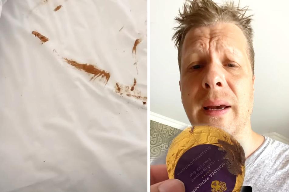 Oliver Pocher (43) hat in seinem Hotelbett ein braunes Malheur erlitten.