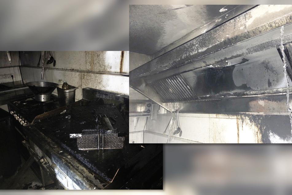 In der Küche des Restaurants hatte das Feuer einen erheblichen Schaden angerichtet.