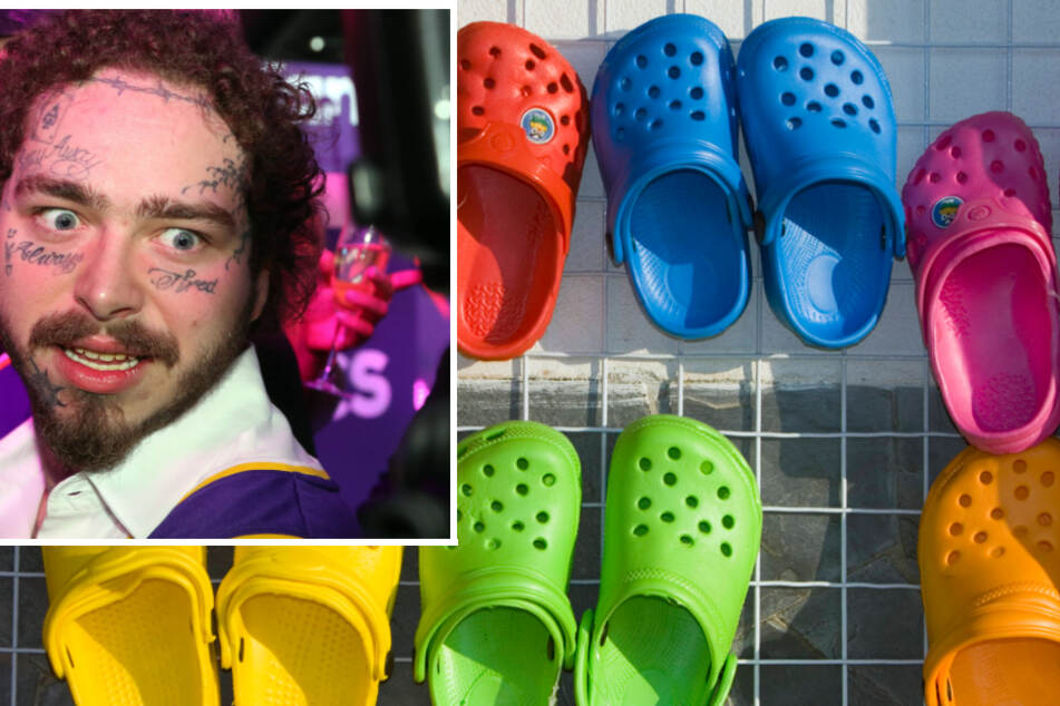 Post Malone shared his love of Crocs with frontline workers.
